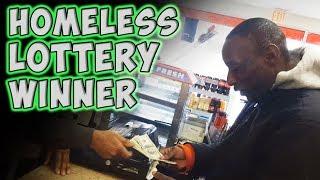 homeless people won lottery